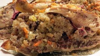 Stuffed Cornish Hen Recipe  -- The Frugal Chef