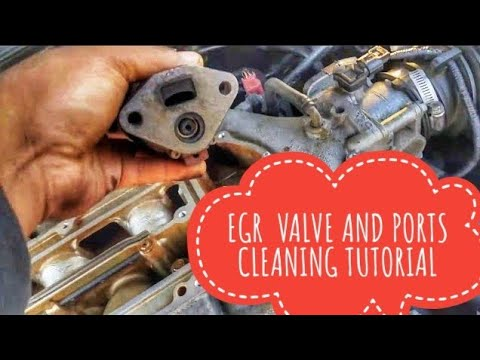 HOW TO CLEAN OR REPLACE EGR VALVE AND PORTS TUTORIAL P0401 P0404 P0406