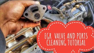 HOW TO CLEAN EGR VALVE AND PORTS P0401 P0404 P0406