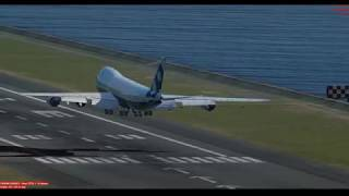 PMDG 747-8 Landing in Kai Tak