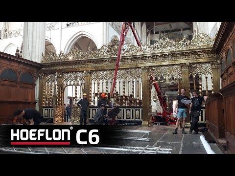 "Hoeflon compact crane Amsterdam ""Nieuwe Kerk"""