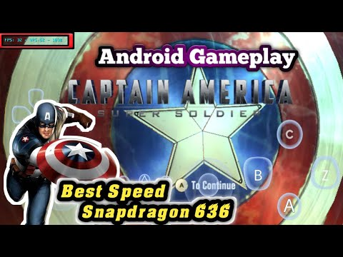 Captain America Super Soldier Android Gameplay || Tutorial Settingg + Link Download game thumbnail