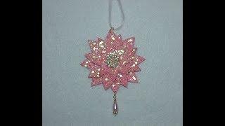 DIY~Gorgeous Vintage Pink Poinsettia Ornament~Collab W/ Craftie!