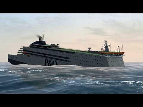 Pride of Rotterdam collision with Jumbo Javelin   Ship Simulator Extremes