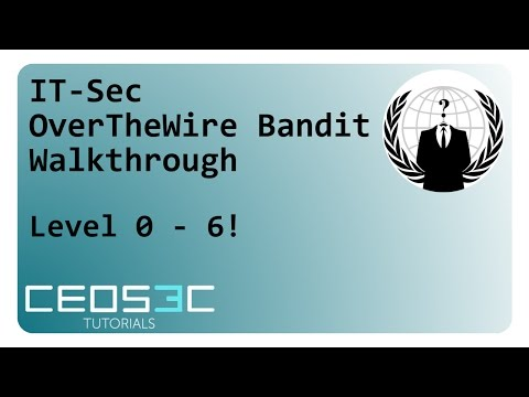 OverTheWire Bandit Walkthrough Part 1 - Level 0 - 6