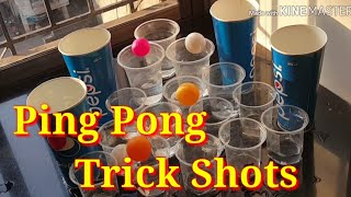 Ping Pong Trick Shots /Team Trio/