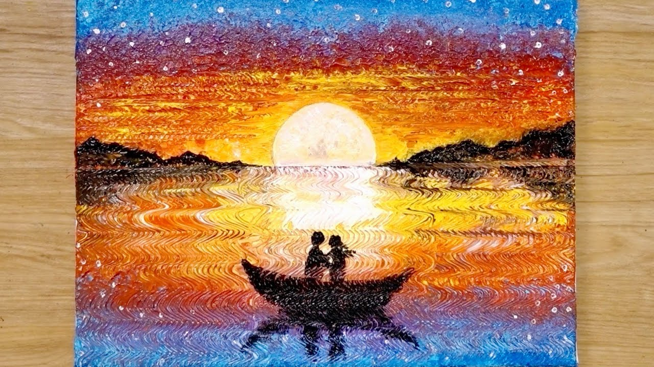 Download Aluminum painting techniques / How to draw a couple on boat