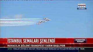 İstanbul semaları şenlendi