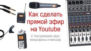 Как настроить микшер (для записи звука и онлайн-трансляции)