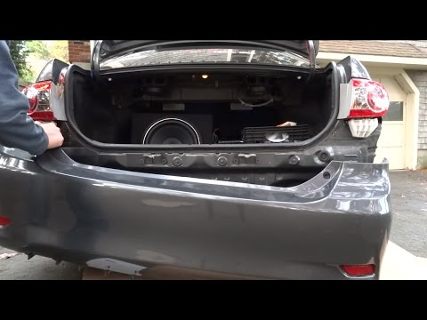 how to remove the rear bumper on the 2009 2013 toyota corolla youtube. Black Bedroom Furniture Sets. Home Design Ideas