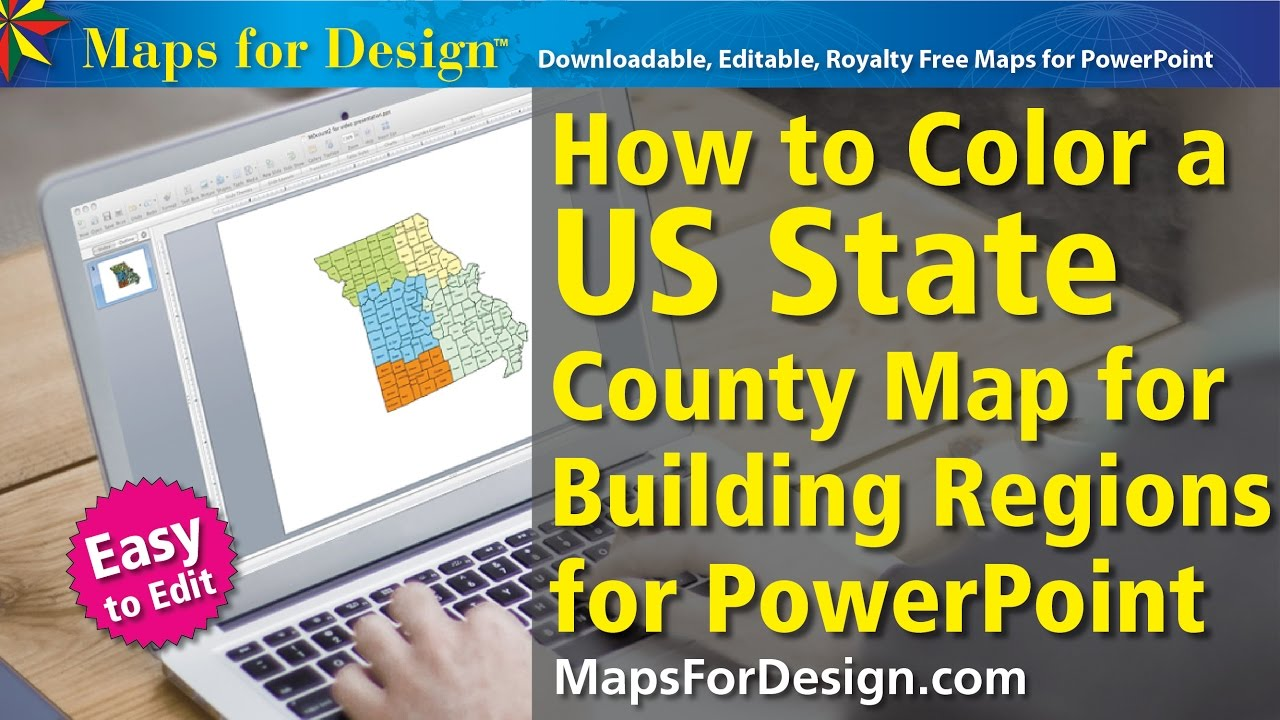 How to Color a US County Map to Make a Regional Sales Territory Map