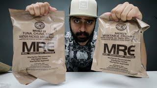 أكل الجيش الأمريكي || الجزء الأول || MRE