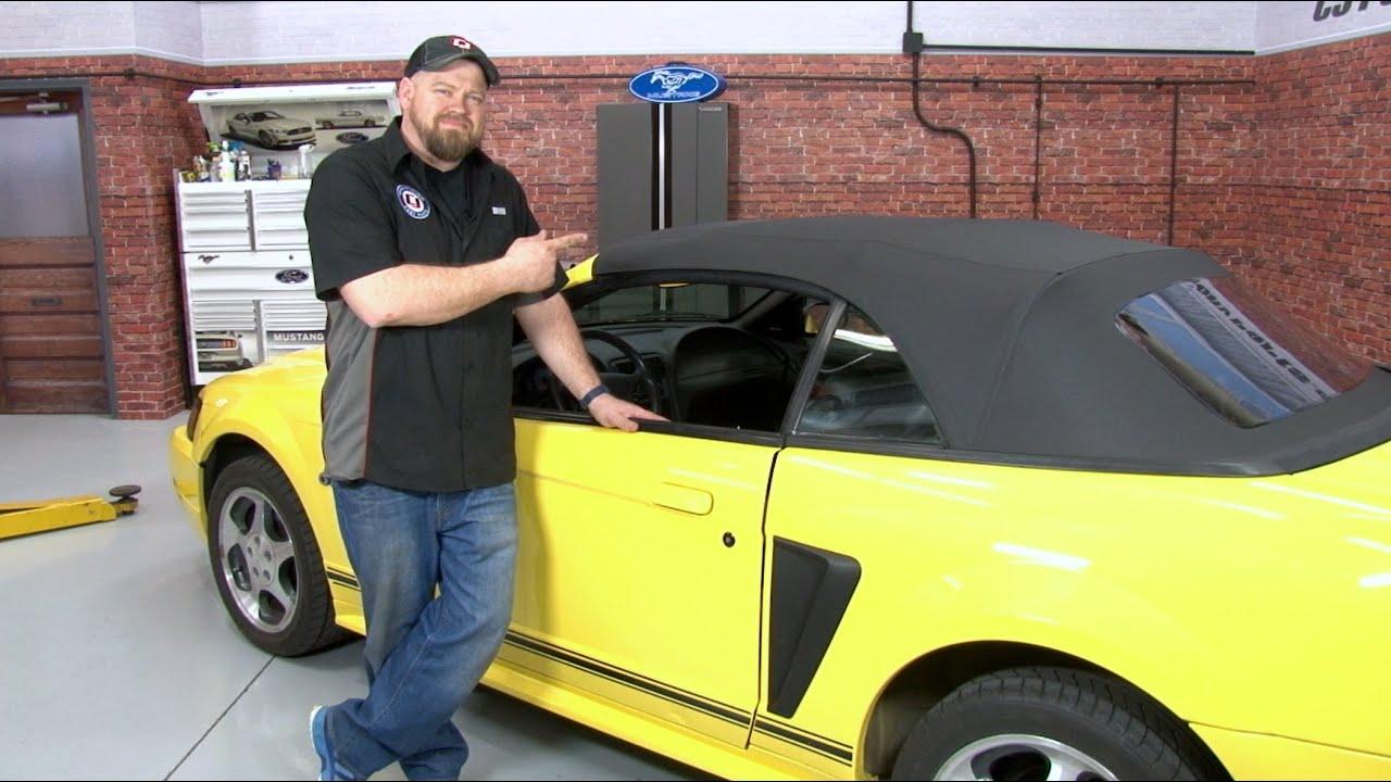 mustang kee auto top convertible top with plastic window one piece vinyl 1994 2004 installation [ 1280 x 720 Pixel ]