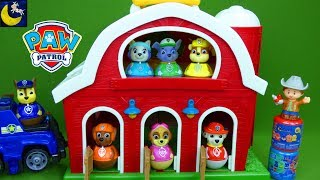 Paw Patrol Weebles Toys Rescue Misisng Farm Animals Chase and Skye Best Funny Toy Stories for Kids