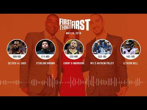 First Things First audio podcast(5.24.18) Cris Carter, Nick Wright, Jenna Wolfe | FIRST THINGS FIRST