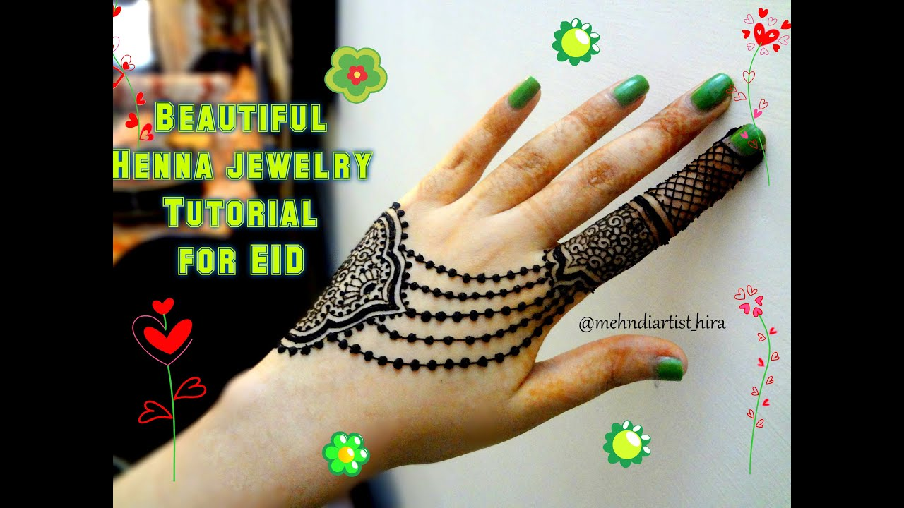Easy simple Beautiful latest jewellery henna mehndi designs for ...