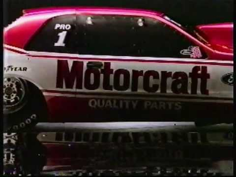 1988 Bob Glidden Ads Featuring Ford & Goodyear Motorcraft NHRA