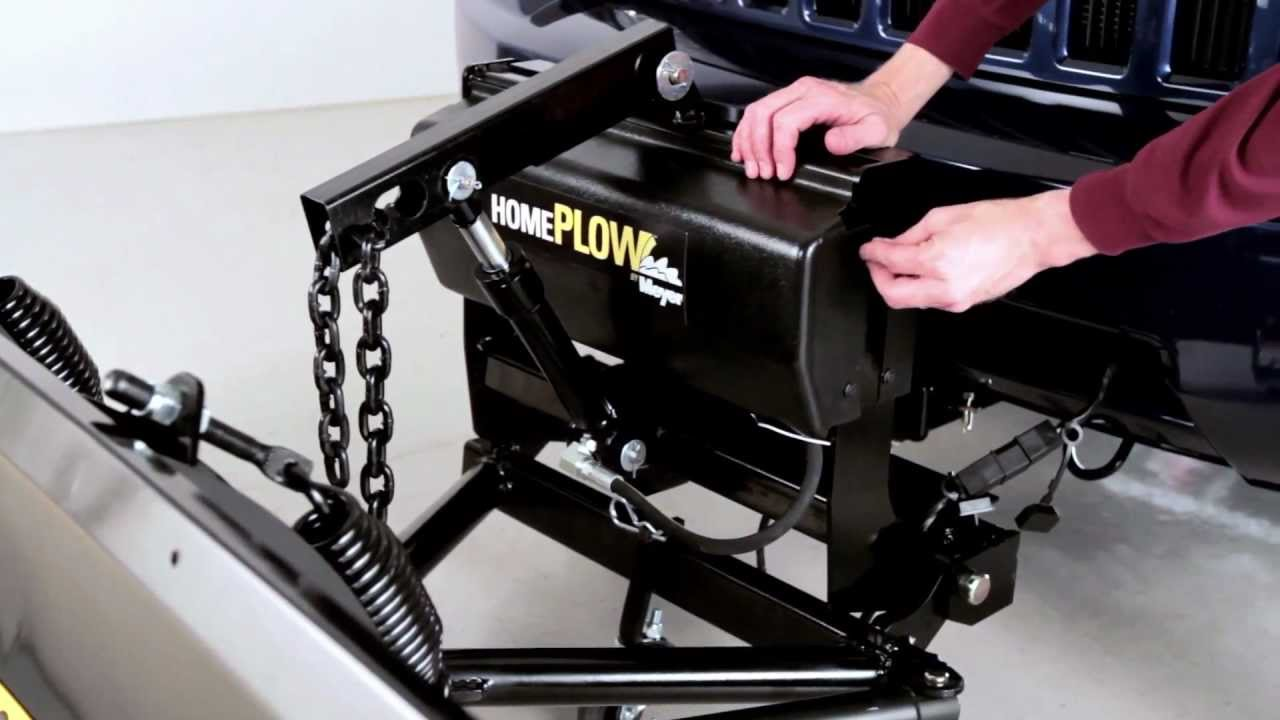 installation how to video diy snow plow the homeplow by meyer youtube [ 1280 x 720 Pixel ]