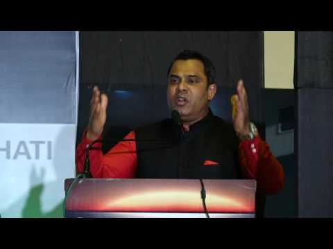 Habib Mohammad Chowdhury addressing an entrepreneurs' conclave 'Parivatan' in Guwahati