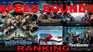 SPEED ROUND!! Ranking All 18 MCU Movies Including Black Panther Review MCU RANKED In Five Minutes