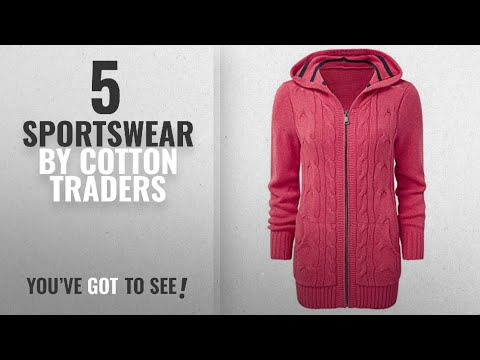 Top 10 Cotton Traders Sportswear [2018]: Cotton Traders Womens Ladies Hooded Cable Cardigan Knitwear