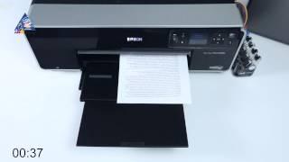 Epson XP-320: тест на скорость печати текста с изображением