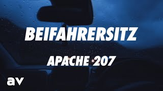 Apache 207 - Beifahrersitz (Lyrics)