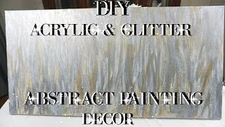 Baixar DIY ACRYLIC AND GLITTER ABSTRACT PAINTING WALL ART DECOR | PETALISBLESS🌹