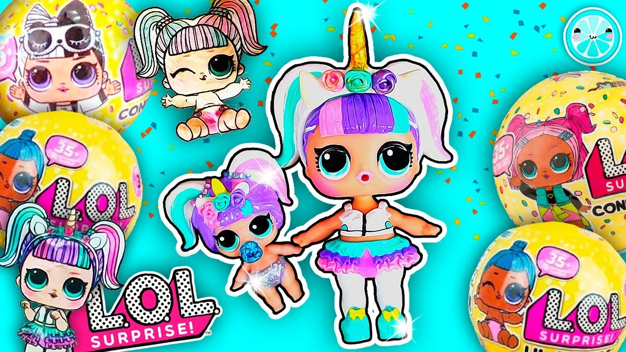 Unicorn Lol Surprise Confetti Pop Series 3 Wave 2 Custom Diy Lil