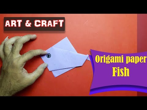 DIY  How to make an origami paper Fish || Art & Craft || Open Mind 🎊