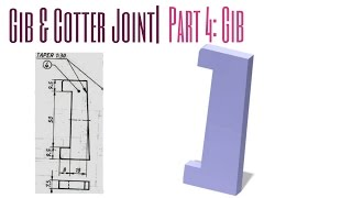 Gib & Cotter Joint Assembly| Part-4: GIB| Catia Tutorials