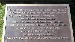 War of 1812 Sites in Elgin County