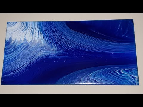 Double waterfall acrylic pour / Easy pouring for beginners #acrylicpour