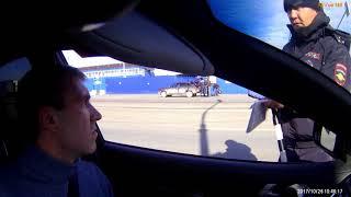 КБР, КПП Урух. Новый регламент. ИДПС Айсагалиев и Ткачев требуют выйти из машины и прекратить съемку