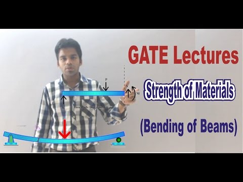 GATE Lectures:Strength of Materials: Bending of Beams