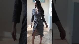 G 2380 Платье вечернее из нежного бархатного гипюра video