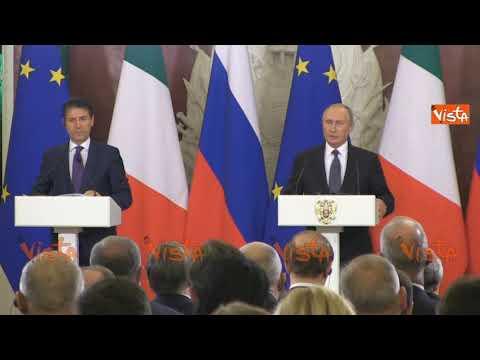 Le domande dei giornalisti a Conte e Putin dopo il summit al Cremlino