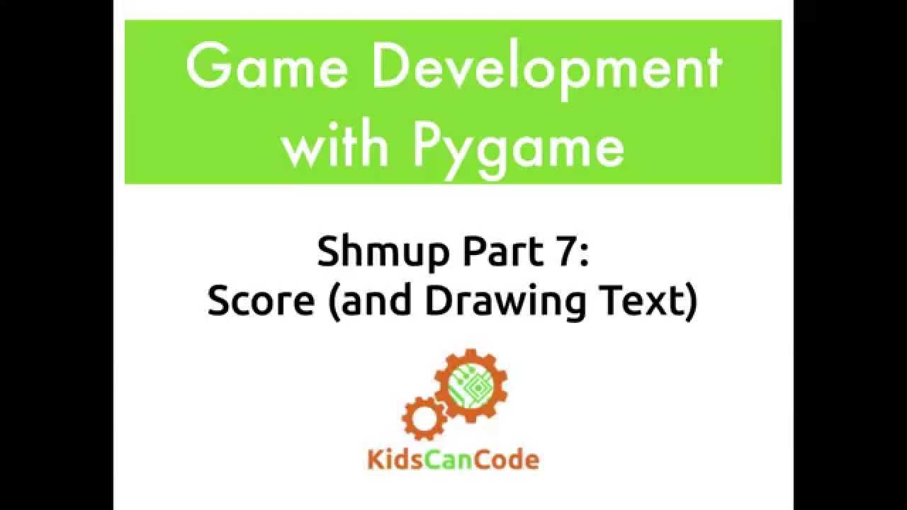 Pygame Shmup Part 7: Score (and Drawing Text) · KCC Blog