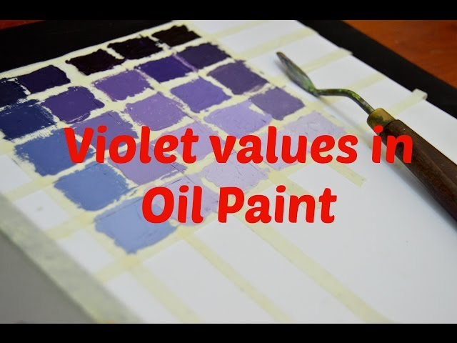 How to mix violet color in oil paints   Scarlet Red part 1