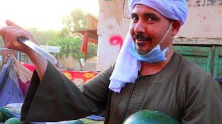 تاجر البطيخ في زمن الكورونا هتفطس ضحك 😂😂😂
