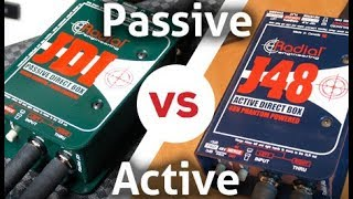 How to Choose a DI: Active vs. Passive