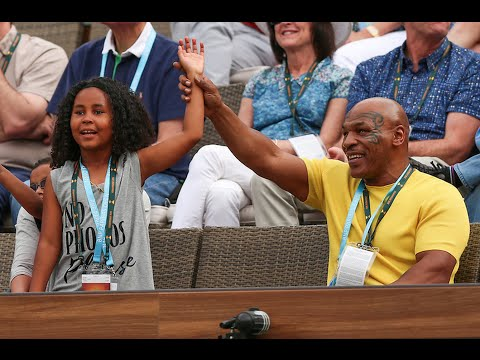 BNP Paribas Open: Mike Tyson & Daughter Visit IW