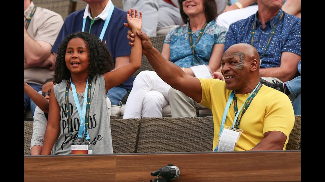 Bnp Paribas Open Mike Tyson Daughter Visit Iw Youtube