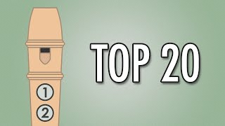 Video TOP 20 Easy Songs to Play on the Recorder download MP3, 3GP, MP4, WEBM, AVI, FLV Oktober 2018