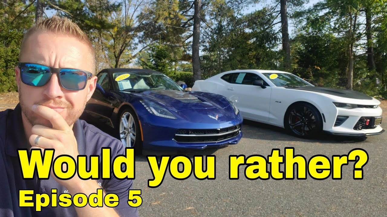 Would you rather? #5 - 2018 Corvette Convertible 3LT vs 2018 Camaro 2SS 1LE Track Package