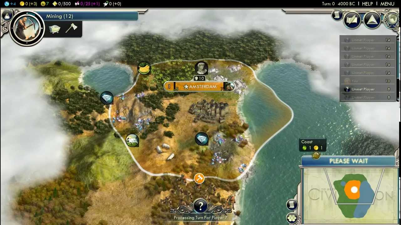 Let's play Civilization 5 - Gods and Kings - Dutch part 1