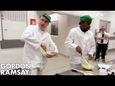Gordon Ramsay Helps Convicts Bake Fairy Cakes   Gordon Behind Bars