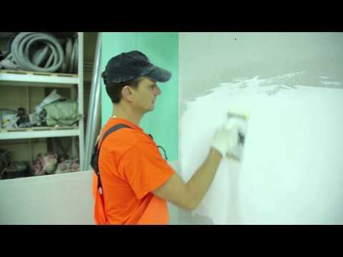 4. Шлифовка: Финишная шпаклёвка стен с использованием Крепс КР