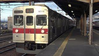【4K】長野電鉄長野線 普通列車8500系電車 須坂駅発車