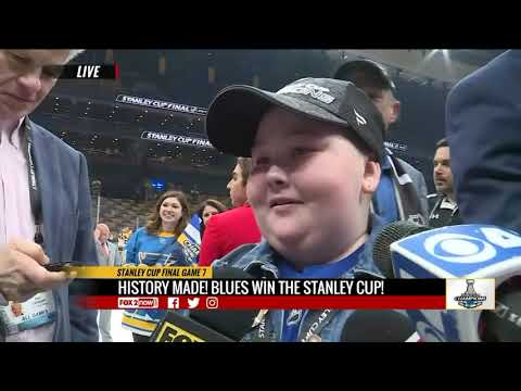 St. Pierre - St. Louis Blues Superfan Gets Her Moment With The Stanley Cup